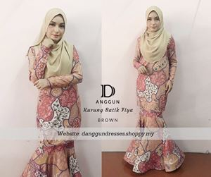 Kurung Batik Fiya Brown