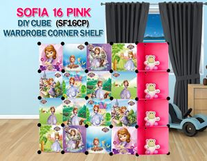 SOFIA PINK 16C DIY Wardrobe with Corner Shelf (SF16CP)