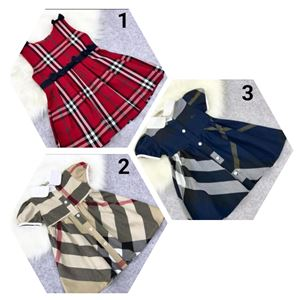 KIDS DRESS FASHION KOREAN BURBERRY