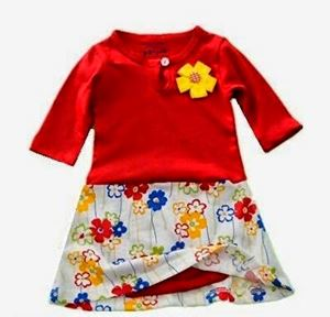Romper Dress - Red Flower R009