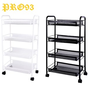MOVEABLE STORAGE TROLLEY 4 LAYER