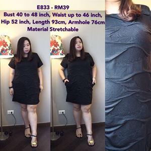 E833 *Ready stock *Bust 101-121cm