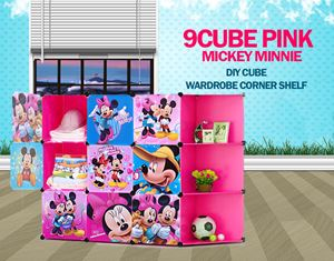 Mickey Minnie Pink 9C DIY Cube w Corner Rack (MC9CP)