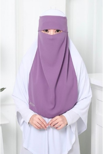 NIQAB MARIA 1 LAYER - PURPLE
