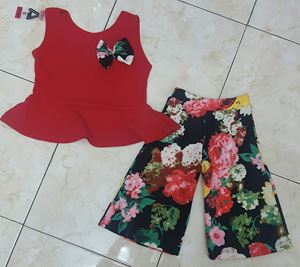 PALAZZO SET 006 ( RED TOP )
