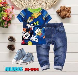 JN004 ( MICKEY ) AILUBEE JEANS 2pcs SET