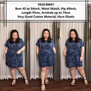 9525 *Ready Stock *Bust 42 to 56 inch/ 106-142cm