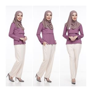 Casual Pant - LIGHT BEIGE / CREAM- (Maternity Friendly)