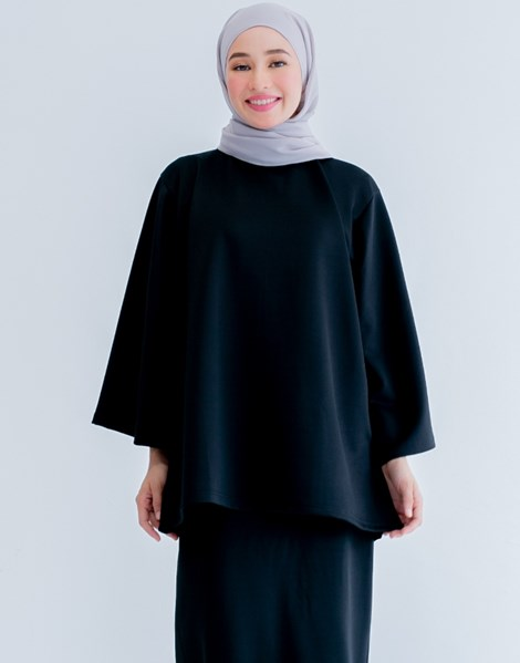 THALIA TOP IN BLACK