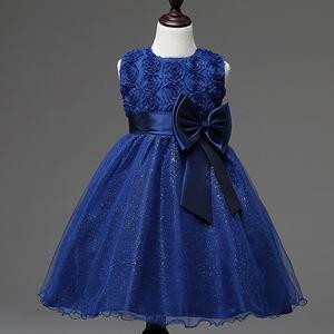 Girls Princess Dress - ROYAL BLUE   ( SZ 70-160 )