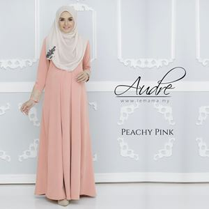 Audre Lacey Dress : Peachy Pink
