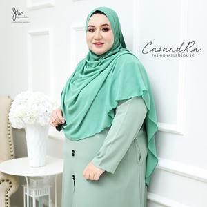02 CASANDRA FASHIONABLE BLOUSE (Mint Green)
