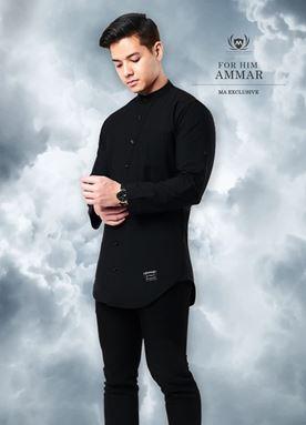 KURTA AMMAR - BLACK