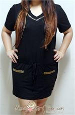 Gold Stud Hoodie Dress * Ready Stock * Bust 98-105CM