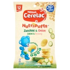 Nestlé Cerelac NutriPuffs Zucchini & Onion Cereal Snacks from 12 Months 25g