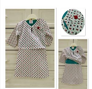Baju Kurung Baby ( One-Piece)- ENGLISH ROSE. 0nly size S