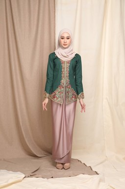 Permata Kebaya Top (Emerald Green)