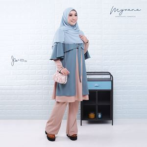 MYRANA ENTHUSIASTIC LIFESTYLE BLOUSE (FADE BLUE)
