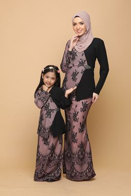 DEWI BLACK / DUSTY PINK (KIDS)
