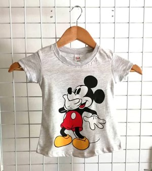 T-Shirt Short Sleeve Mickey 3: Size 1y-6y (1 - 6 tahun) QK