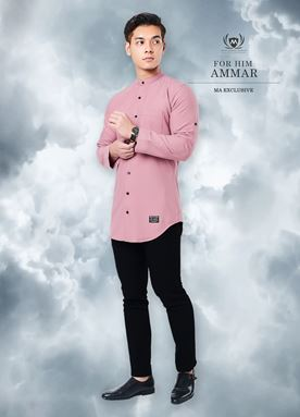 Kurta Ammar For Him (Dusty Pink)