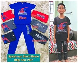 Spiderman - Short Sleeve,  Kod 1907 (Big Size) 9y-14y