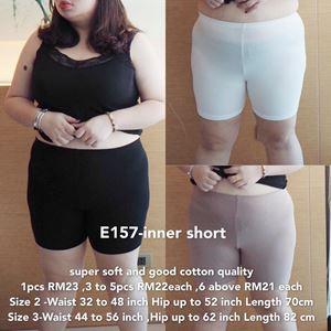 E157 *Ready Stock *inner short *Waist 32 to 56 inch