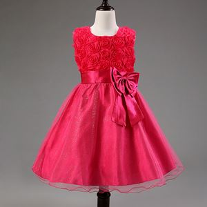 Girls Princess Dress - ROSE PINK   ( SZ 70-160 )