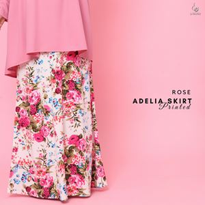 Adelia Skirt Printed : Rose