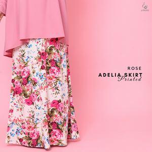 Adelia Skirt Printed : Rose