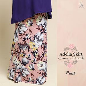 Adelia Skirt Printed : Peach