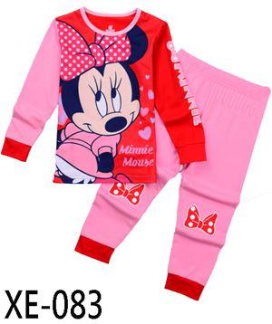 XE-083 'Minnie Mouse' Pyjama (2 - 7 tahun)