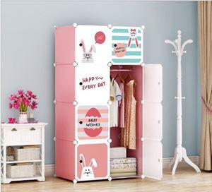 BNY8P BUNNY DIY Cabinet Wardrobe (47cm Depth x 35cm x 35cm) Free*UtilityHanger*