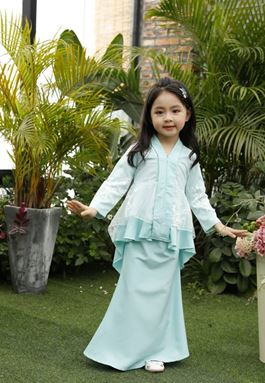 BAJU KURUNG PEPLUM FISH TAIL (MINT GREEN)