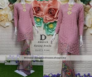 Kurung Lace Armila Dusty Pink
