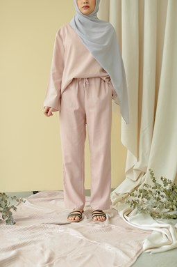 Lucilea Tapered Pants (Blush Pink)