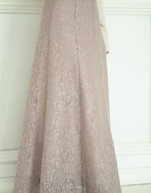 KHLOE LACE SKIRT IN DUSTY BLUSH