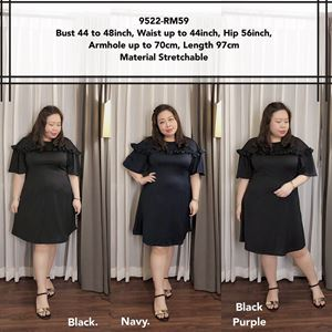 9522 Ready Stock *Bust 44 to 48 inch/ 111-121cm