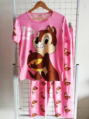 Pyjamas Dewasa Pink Chipmunk