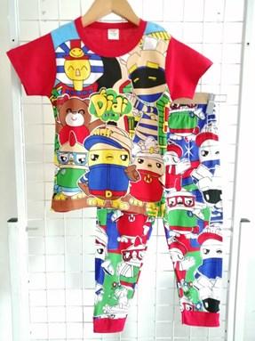 Pyjamas  Short Sleeve DIDI THE BOSS Red (Kids 2 -8)