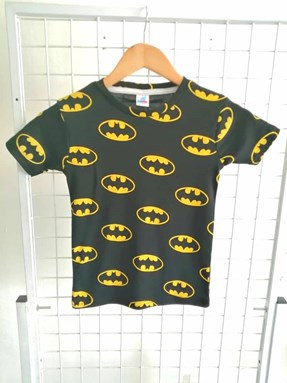 T-Shirt Short Sleeve Batman Black: Size 7y-12y (7 - 12 tahun) RS