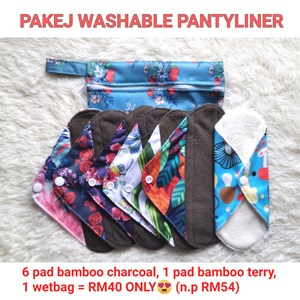 Set Jimat Pakej Washable Pantyliner