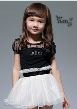 @  D062429  BLACK & WHTE DRESS