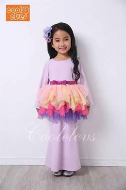 2017 COOL ELVES 2PCS SET ( PURPLE )  SIZE 2-12