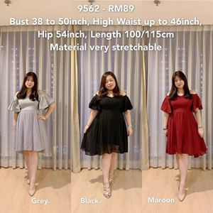 9562 * Ready Stock *Bust 38 to 50 inch/ 96-127cm