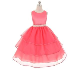 CLEARANCE STOCK PINK PEACH PEARL GIRL DRESSES