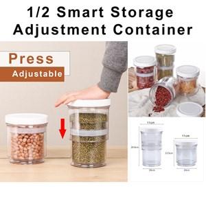 1/2 Smart Storage Adjustment Container Airtight Store Organizer Kitchen Organizer