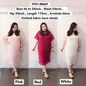 9T01 Ready Stock *Bust 46 to 54 inch/ 117-137cm