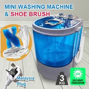 Mini washing machine with Shoe Brush, UV light sterilization