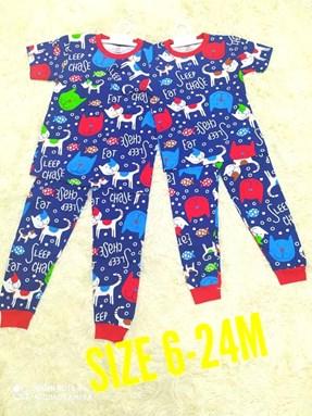 Pyjamas CAT BLUE : BABY 6M- 24M